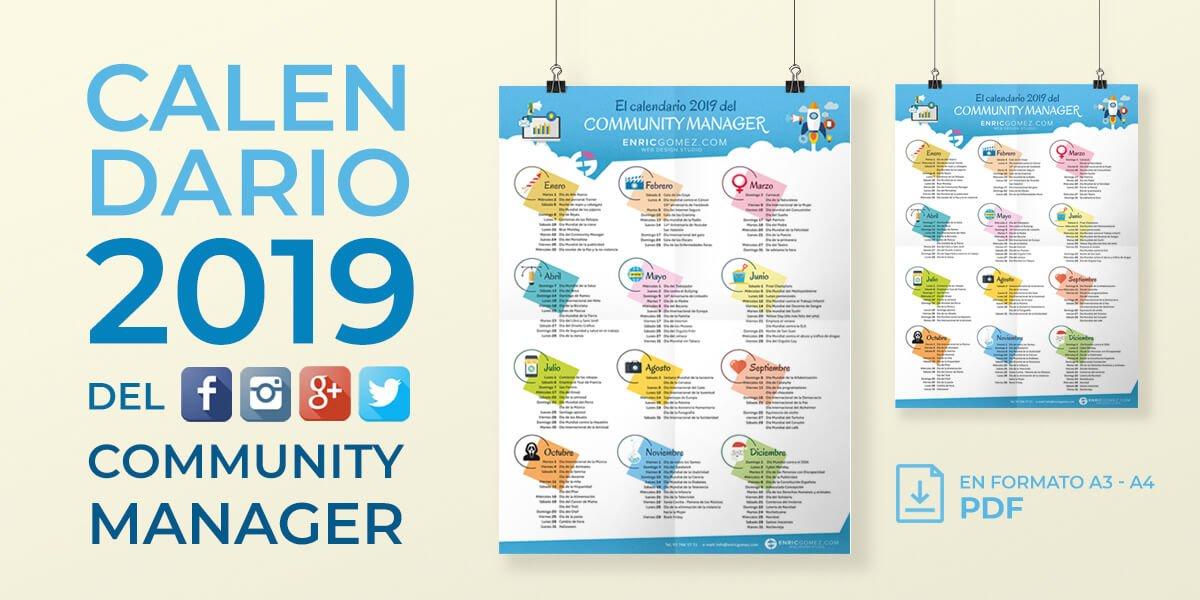 Calendario El Grafico 2019 Pdf.El Calendario Del Community Manager 2019 Enricgomez Blog