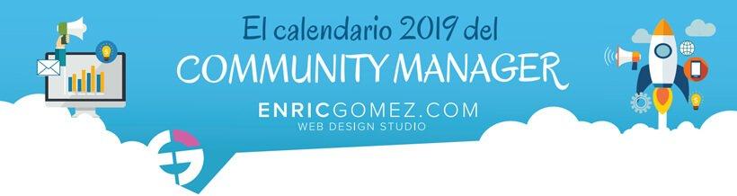 Calendario Community Manager 2019