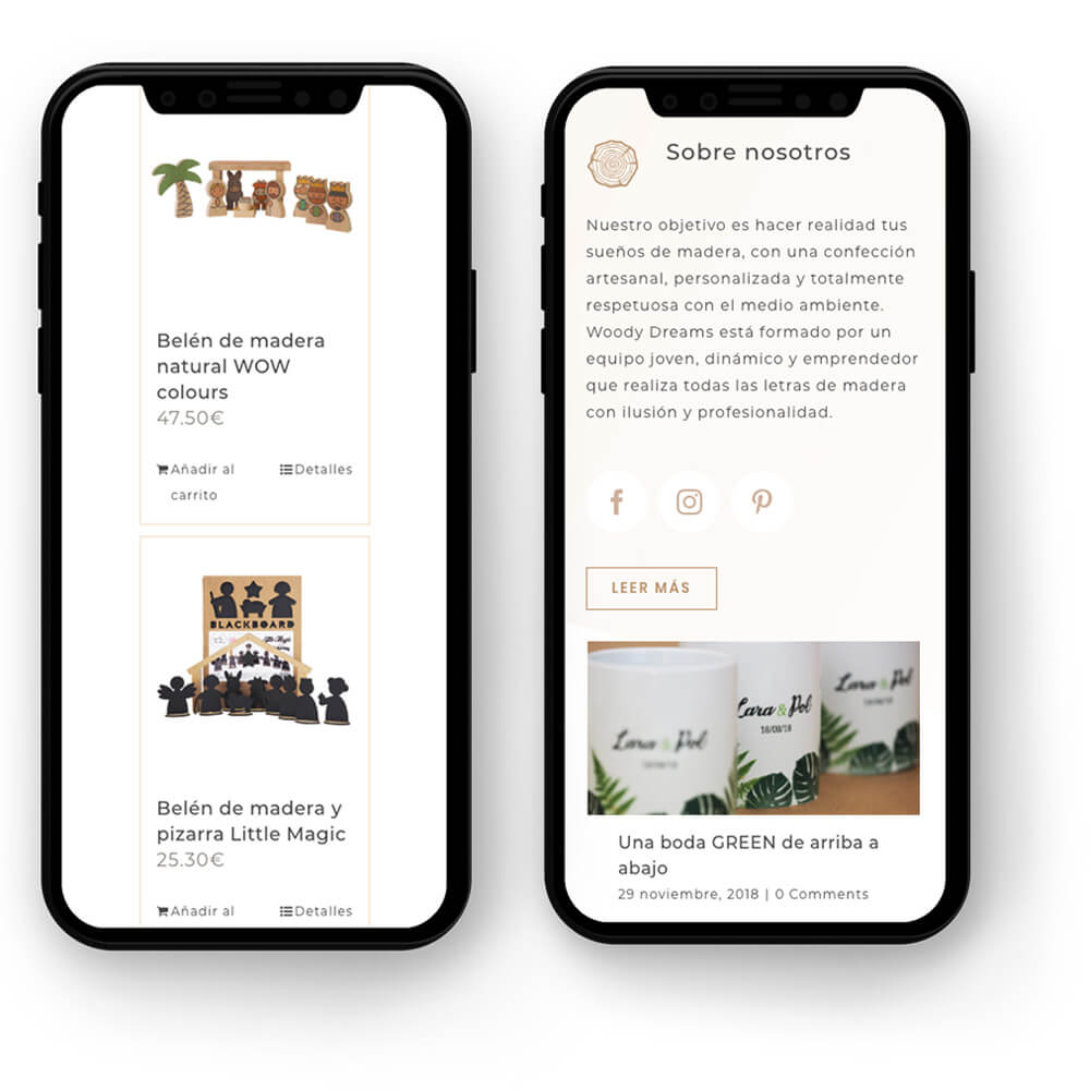 Woody Dreams Mobile Responsive
