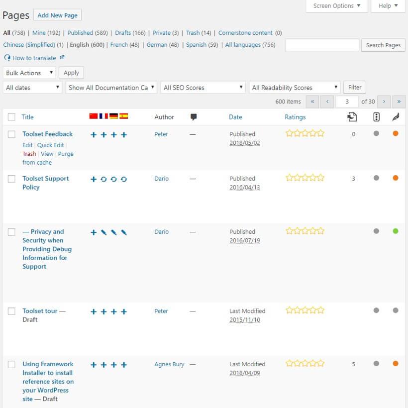 Wordpress en varios idiomas con WPML
